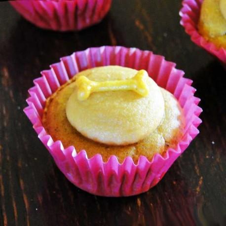 Cupcakes pour chiens Patates douces avec glaçage curcuma