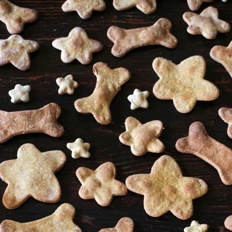 Biscuits pour chiens Os et Fleurs patates douces