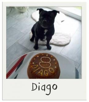Diago avec son Gateau d'anniversaire