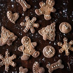 Holiday Gingerbread Dog Biscuits