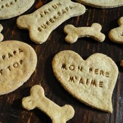 """Biscuits pour chien """"J'aime Mon Papa"""" Parmigiano Reggiano"""
