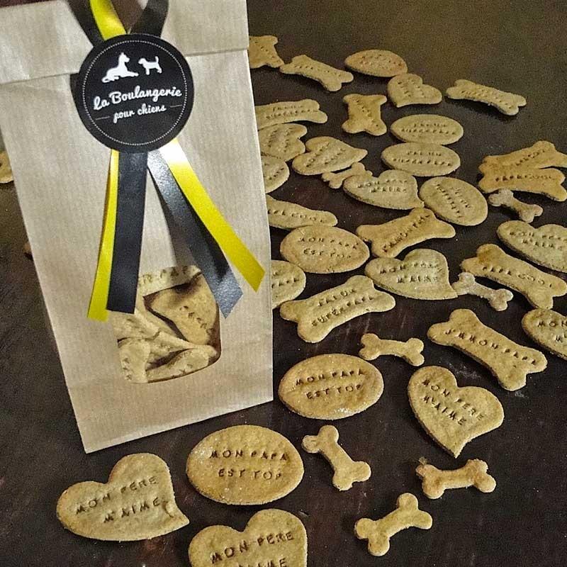 biscuits pour chien j 39 aime mon papa cadeau f te des p res pour chien. Black Bedroom Furniture Sets. Home Design Ideas