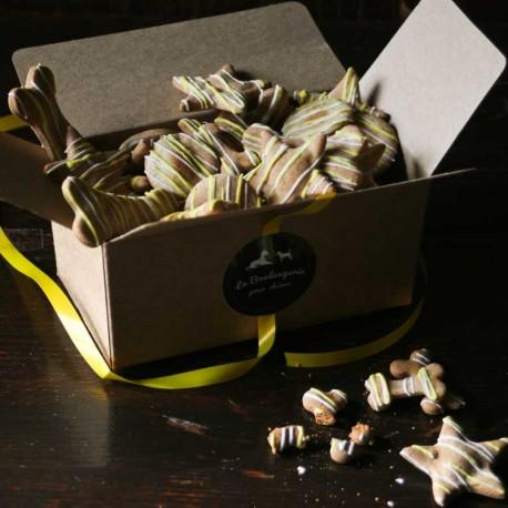Festive organic Dog Biscuit Gift box