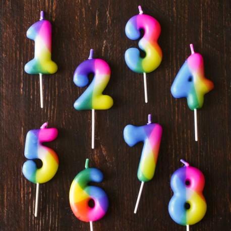 Birthday candle Rainbow