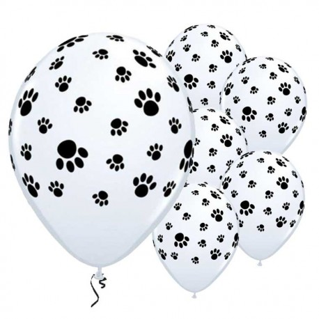 Ballons Patte de chien latex biodégradables