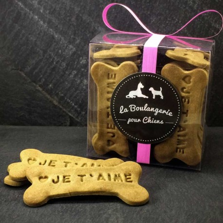 Biscuits personnalisés pour chiens OS D'AMOUR