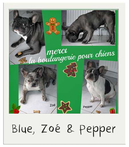 Blue, Zoe et Pepper